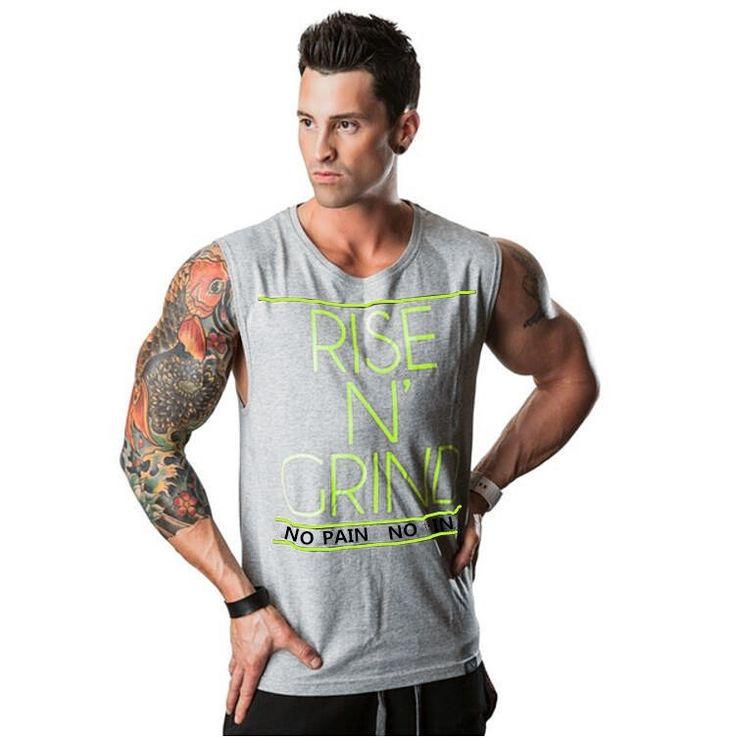 Brand Bodybuilding Stringer Tank Tops Mens Sportwear Vest Men golds gyms Clothing sleeveless t shirts Fitness muscle singlets