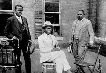 "Marcus Garvey with Prince Kojo Tovalou-Houenou of Dahomey, called the ""Garvey of Africa"", and George O. Marke. 1924"