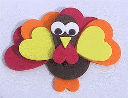 thanksgiving crafts for kids | Foam turkey Thanksgiving craft for kids