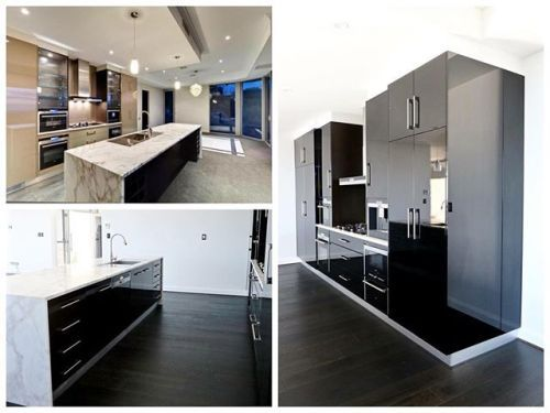 {Adelaide Project} Before & After shots of our interior design project. The facelift to the kitchen with the black gloss cabinets and new black japan floors look simply stunning @classicfurnishingsaustralia #kitchen #marble #renovation #blackkitchen #pendantlights #hardwoodfloors #homedecor #homeideas #homestyling #interiorstyle #interiordesign #interiordesigner #luxe #Melbourne #AustralianMade #AustralianDesign #luxuryliving #luxurystyle #instadesign #living #dining #pic #vogueliving…