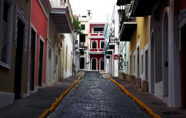 Alley of Old San Juan, Purto Rico