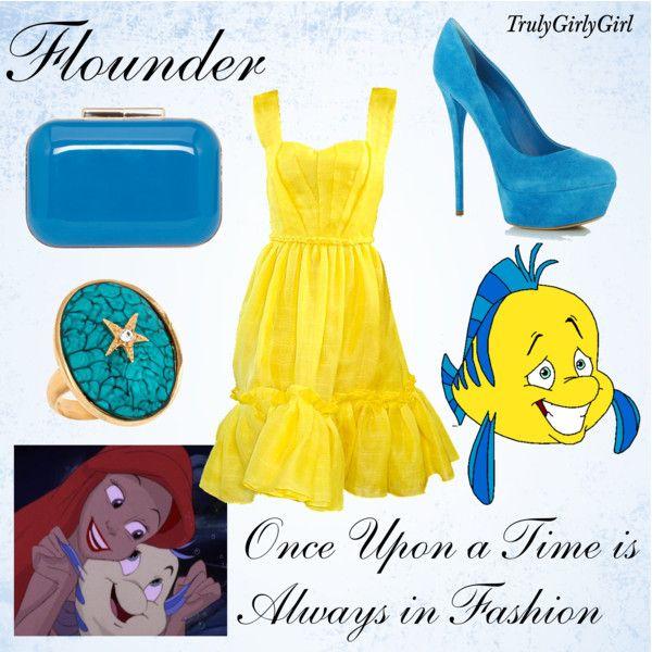 Disney Style: Flounder, created by trulygirlygirl on Polyvore