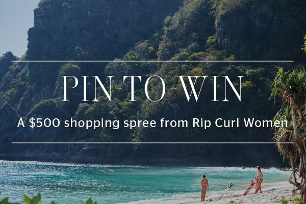 Click here to enter for the chance to win! http://www.ripcurl.com/us/blog/2016/11/14/pin-win/ One lucky winner will receive a $500 shopping spree from Rip Curl!