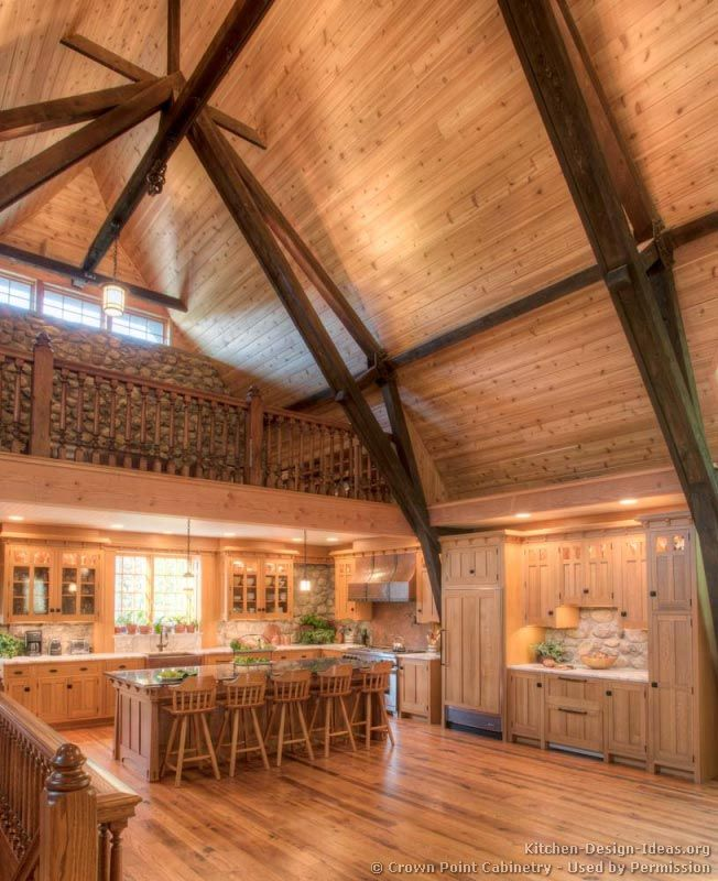 kitchen idea of the day log home kitchens by crown point cabinetry - Home Kitchen Design Ideas
