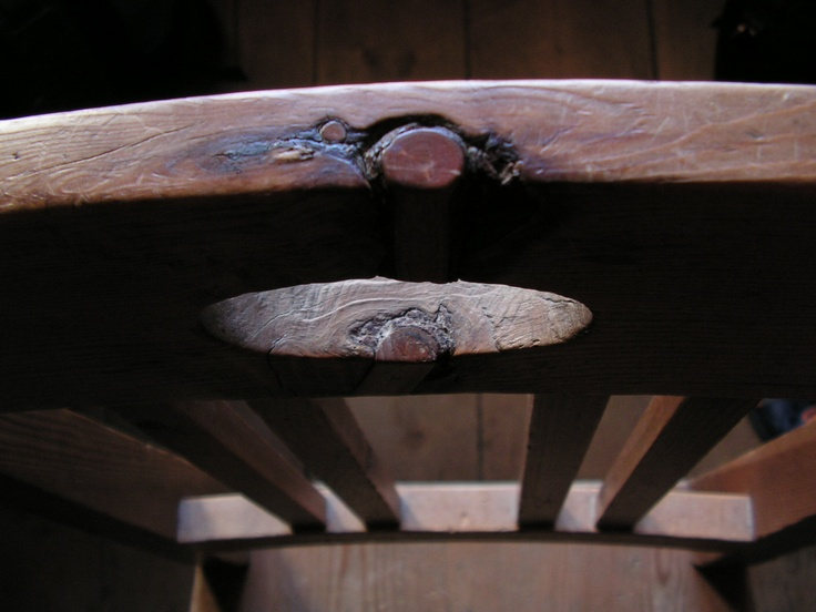 Chair in mountain cabin