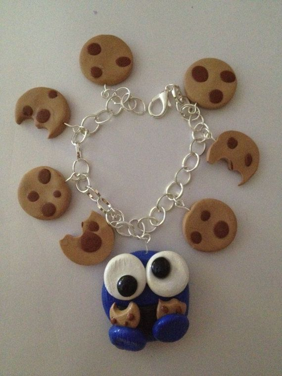 cookie monster charm bracelet