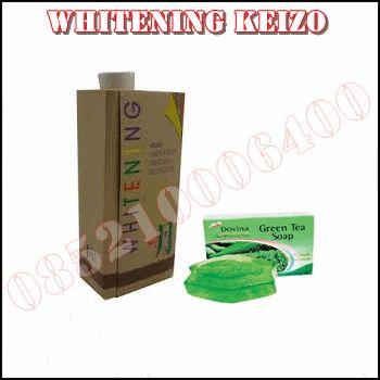 Krim Pemutih Badan Whitening Keizo Herbal Alami Dan sabun Green Tea Hasil Permanen jadikan kulit Sehat dan Putih dengan cepat dan 100% Aman tanpa efek samping.