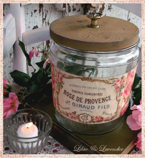 DIY::Shabby French Perfume Vintage Jars Tutorial ! With Free Printable