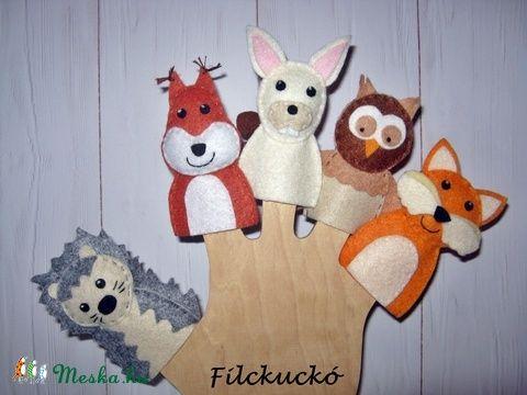 Filc ujjbáb csomag - Az erdő állatai (Filckucko) - Meska.hu