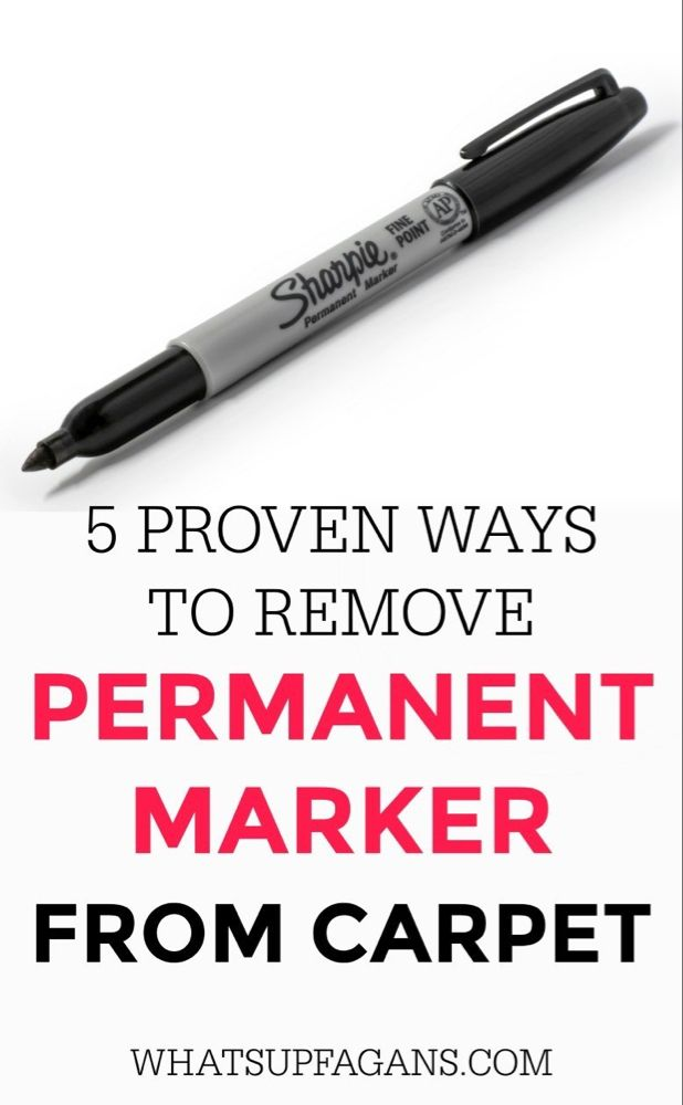 5 Proven Methods To Get Permanent Marker Out Of Carpet Cleaning