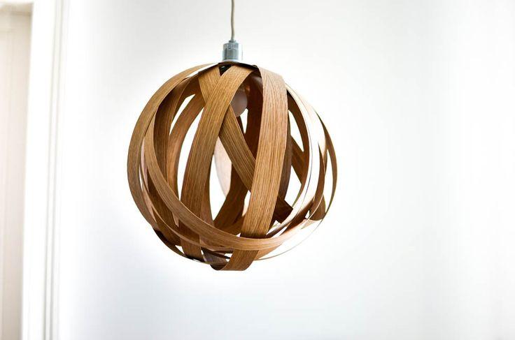 DIY Lampe aus Eichenholz-Furnier