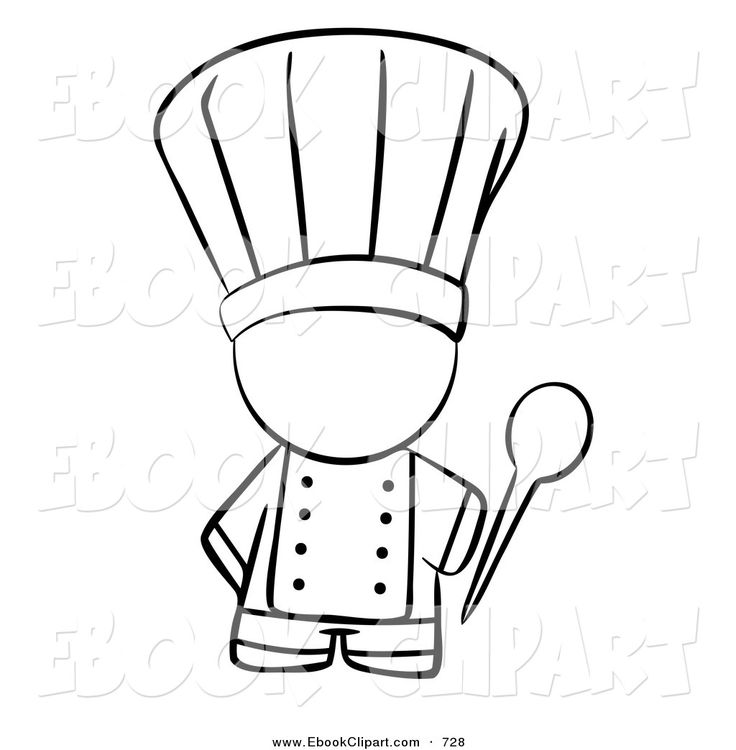 Images For > Cooking Clipart Black And White | Cooking ...