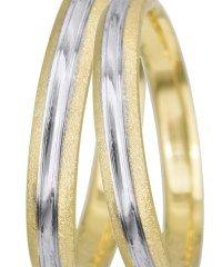 Βέρες γάμου δίχρωμες 14Κ BRS0930D BRS0930D Χρυσός 14 Καράτια