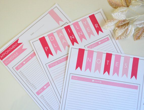 Hey, I found this really awesome Etsy listing at https://www.etsy.com/listing/199050546/daily-planner-schedule-and-notes-pink