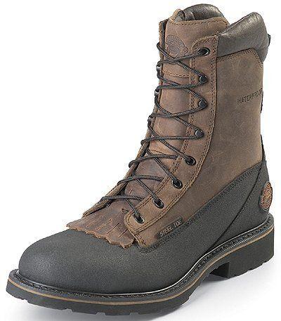 Justin Men's 8 Inch Black Tec-Tuff Waterproof Steel Toe Boot Style: JWK840 Justin Boots. $125.95