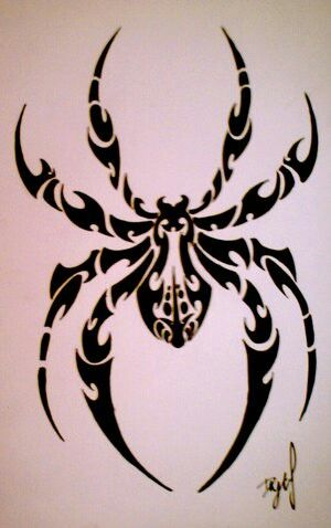 17 best images about tribal spiders on pinterest scary spiders black widow spider and clipart. Black Bedroom Furniture Sets. Home Design Ideas