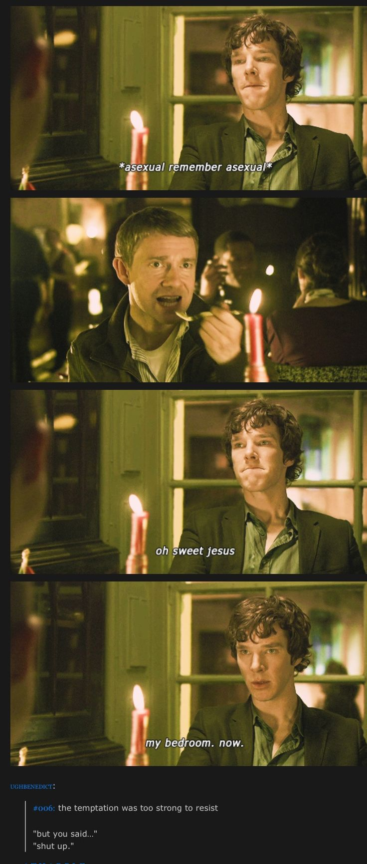 Johnlock<------i do believe these are shots from the original pilot. So sexy sherlock