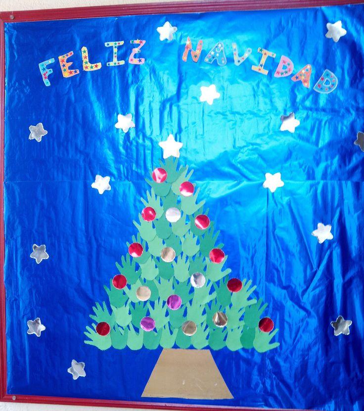Mural navidad navidad pinterest navidad y murales for Arbol de navidad mural