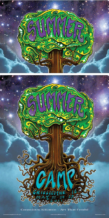 Summer Camp Music Festival 2011  Chillicothe, IL  Art by Robert Marx  Panel (1/1) $20