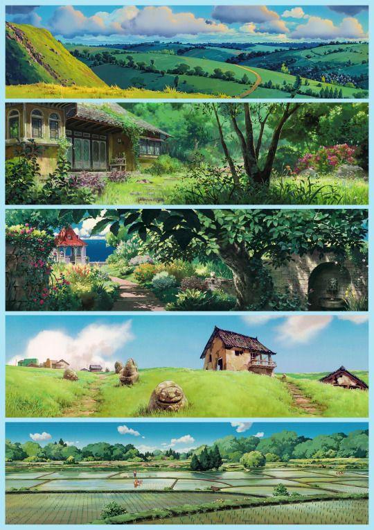 Ghibli backgrounds