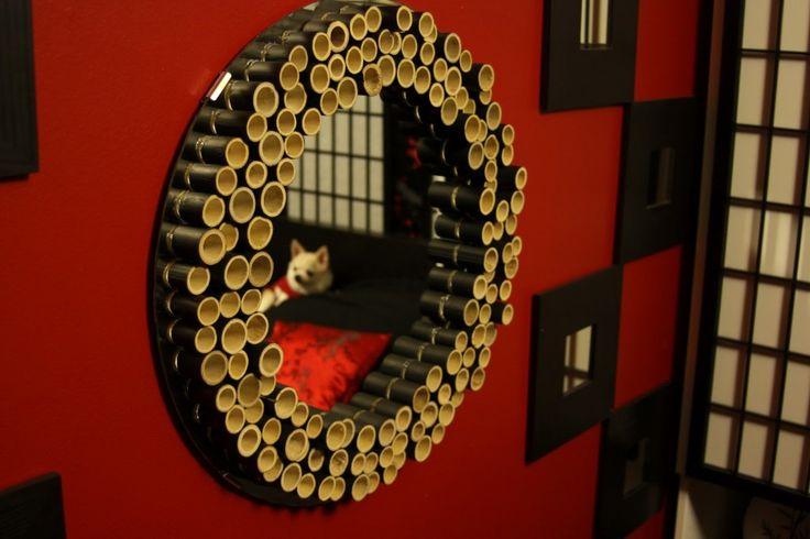15 ideas para decorar con bambú | Espejo de mil cañas
