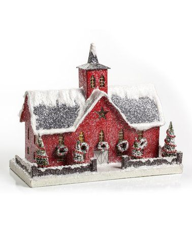 Another great find on #zulily! Red Building Décor #zulilyfinds