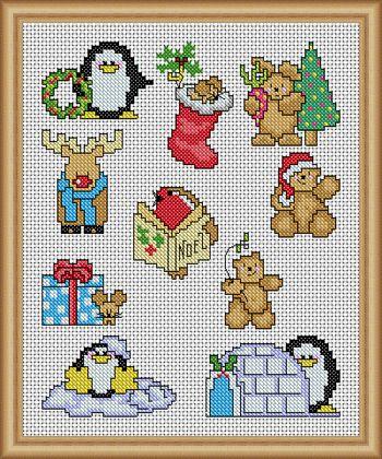 Quick Xmas cuties - PDF Cross Stitch Patterns - Instant Download