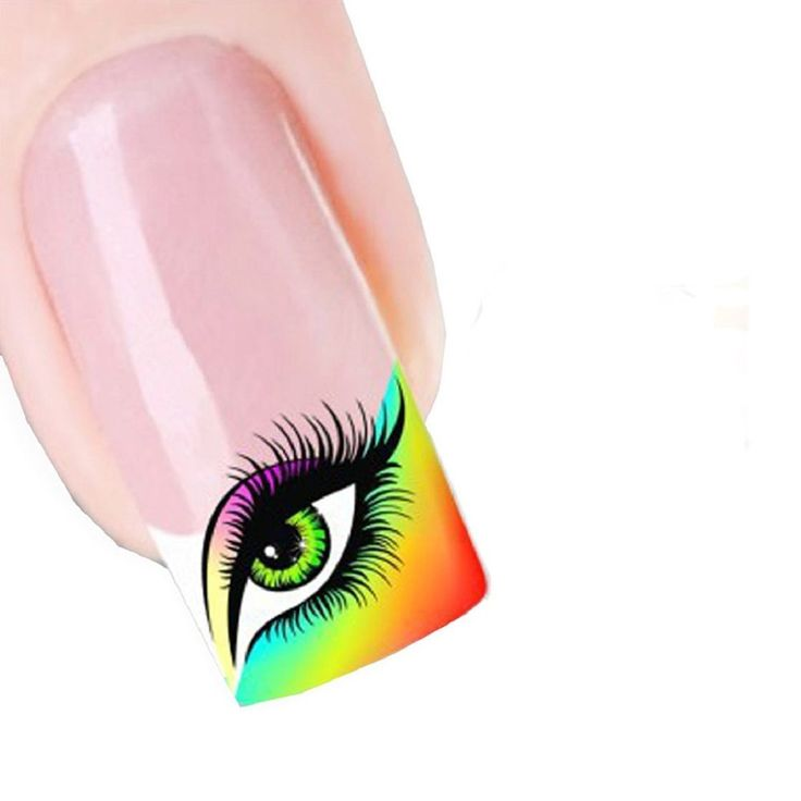 Generic Women's Sweet Modern Design Nail Tip Art Transfers Decal Sticker Eye Shadow. No glue required and just peel off to remove. Size:5.2CMX6.3CM. These look so cute and gorgeous on any colour nail varnish.