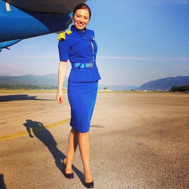 Ukraine international airlines stewardess crewfie for Spa uniform france