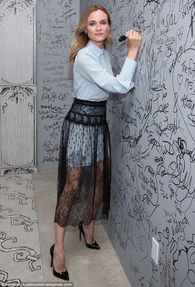 Diane Kruger takes at NY screening of her film Disorder