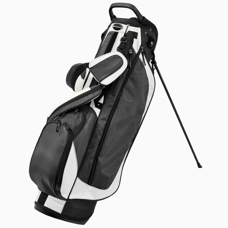 With a two-compartment top with lift handles these mens 2014 OS 2.5 golf stand bags by Orlimar also offer three accessory pockets and one large garment pocket