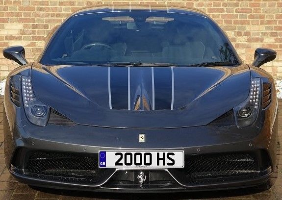 Dateless Private Number Plate: 2000 HS
