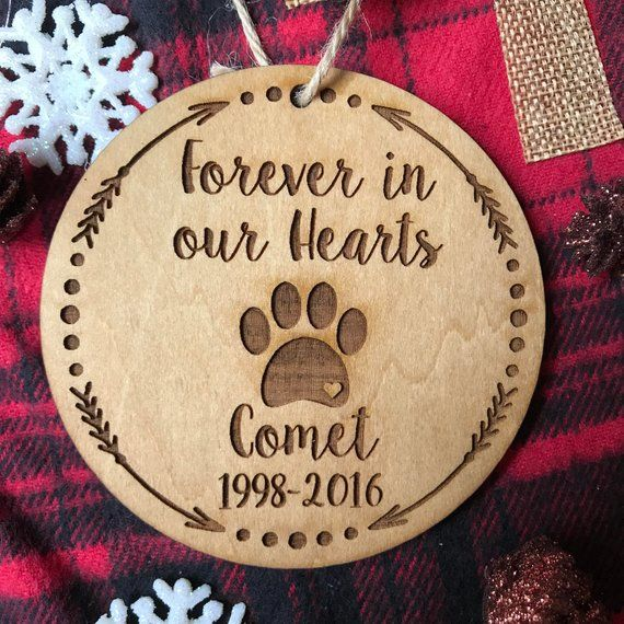 personalized memorial dog rustic wood ornament wood slice dog loss sympathy gift Dog ornament dog name Christmas ornaments
