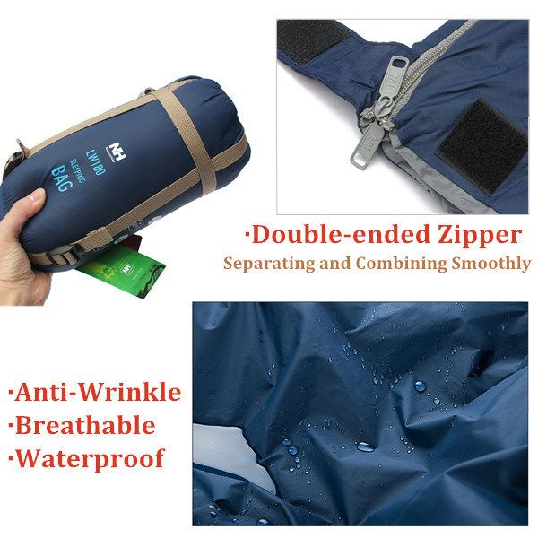 Naturehike Outdoor Camping Sleeping Bag Ultralight Envelope Bag For Travel Hiking 1.9x0.75m