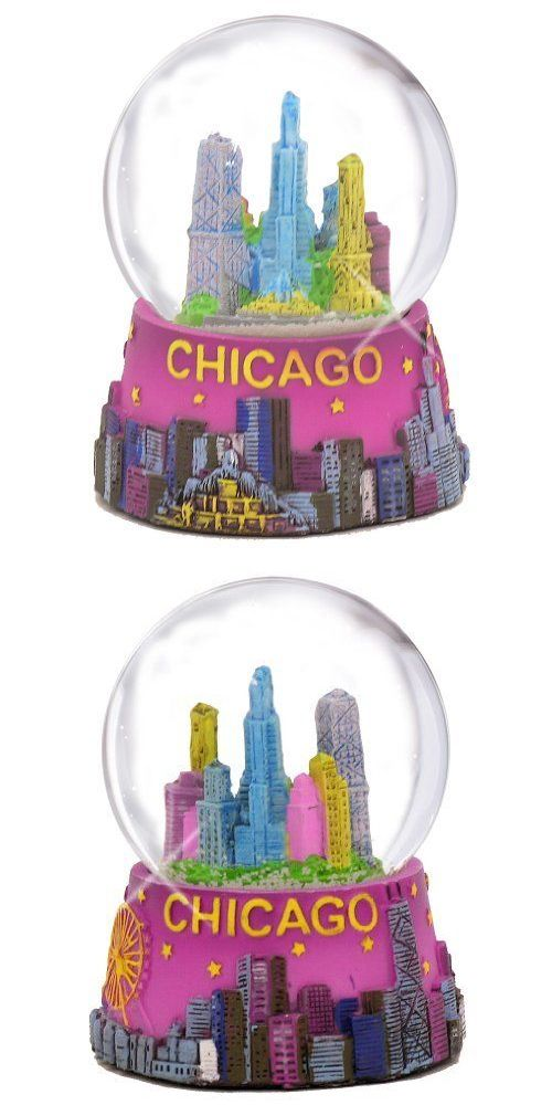 Snow Globes 156890: Chicago Snow Globe 65Mm 3.5In Purple Chicago Snow Globes From Chicago Souvenirs -> BUY IT NOW ONLY: $115 on eBay!