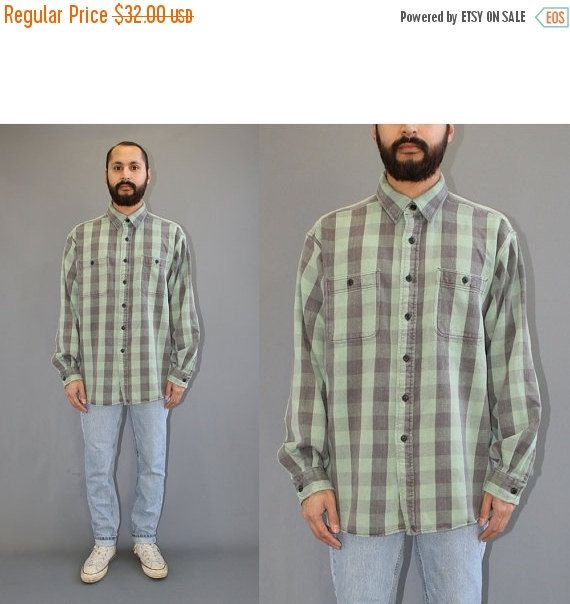 ON SALE Polo Sport Ralph Lauren Buffalo Plaid Flannel - Polo Sport Sportsman - Ralph Lauren Flannel - Faded Green and Black Buffalo Plaid - by DiveVintage from Passport Vintage. Find it now at http://ift.tt/2hOBiDm!