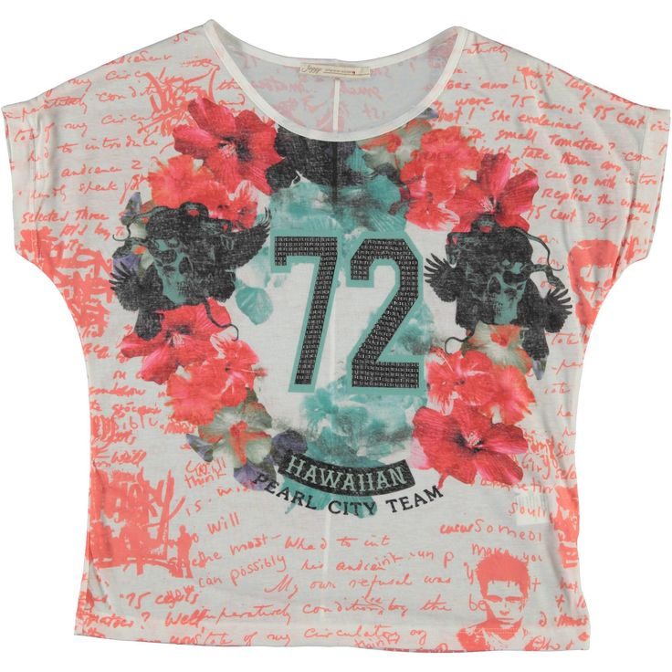 T-shirt oversize fiori e teschi donna. Disponibile in 2 varianti colore - € 21,90 | Nico.it - #fashionista #nicoit #nicoabbigliamentocalzature #fashion #nuoviarrivi #newarrivals #newcollection #nuovacollezione #bestoftheday #outfit #outfitoftheday #spring #springsummer #summer #ss15 #2015