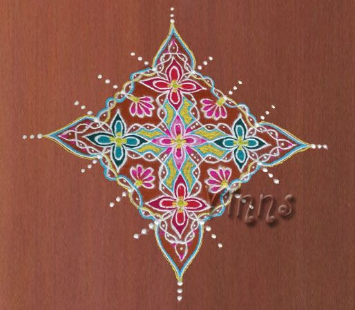 A fusion kolam but this goes into Sikku genre  :-)