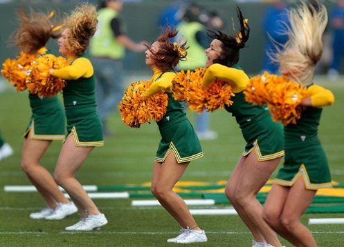 Green Packers cheerleaders & girls- 18