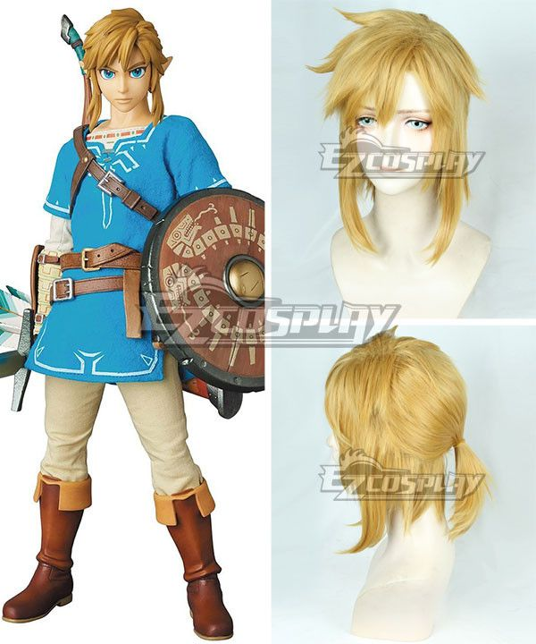 Breath of the Wild link Cosplay Dark gold Hair Wig Anime The Legend of Zelda