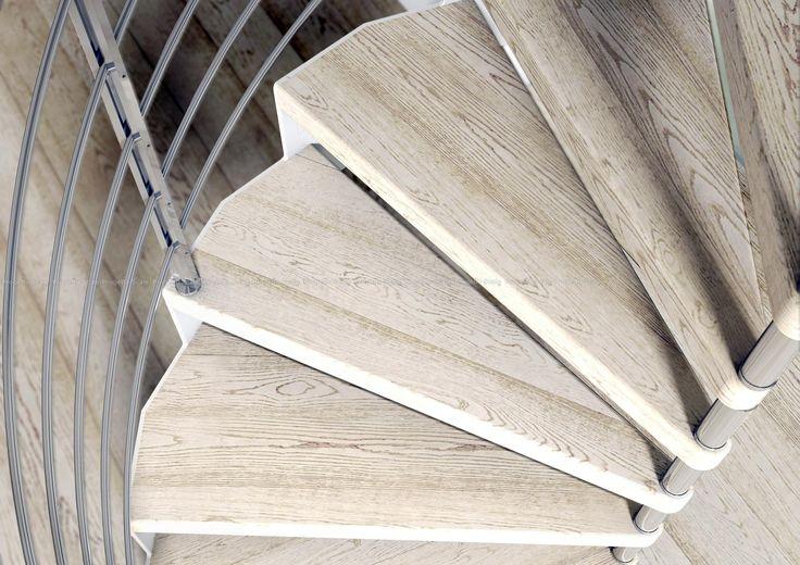 Dettagli strutturali. Scala a chiocciola in legno