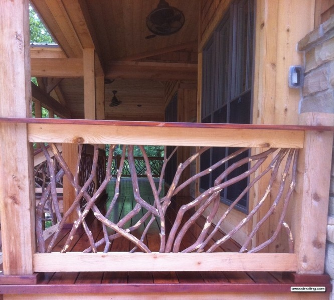 Wood Railing Mountain Laurel Handrails Welcome To My