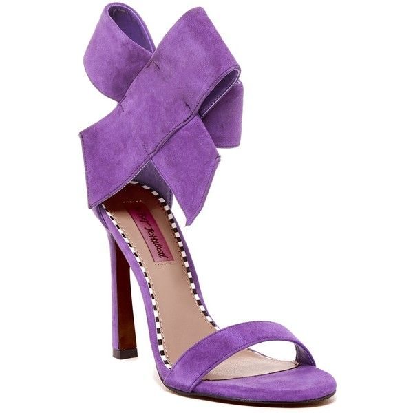 purple high heels with bow heels zone