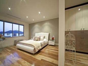 Blonde floor boards