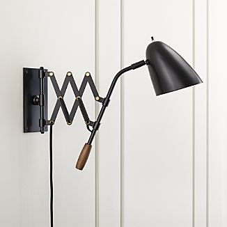 A Pull On The Warm Wood Handle Stretches Scissor Arm Of Our Retro Modern Sconce Right Where It Needed Task Style Lighting Comes To You In Sleek