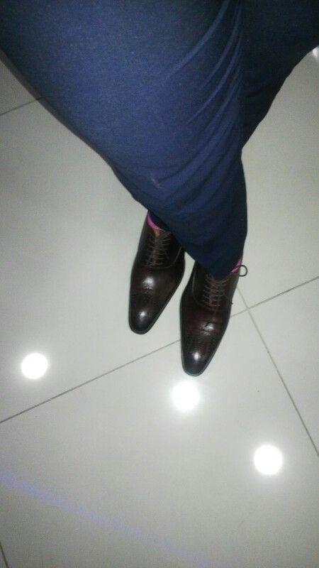 Chocolate brown show #men's fashion #work gear