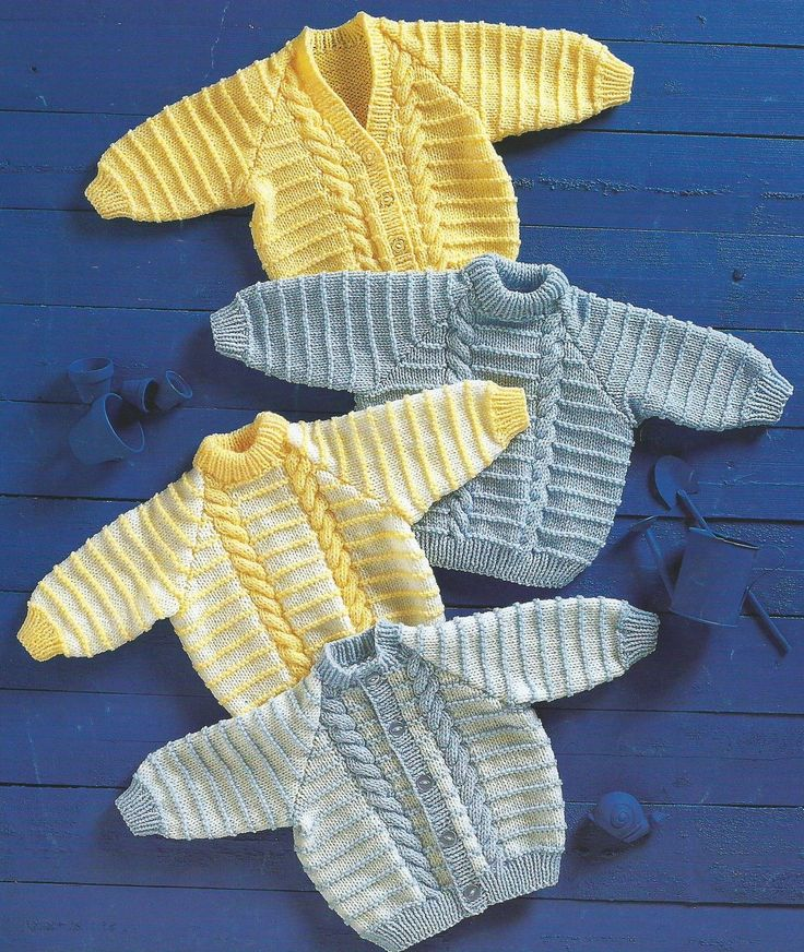 "Baby Girls Boys Knitting Pattern Cardigans Sweaters 18-26"" Aran 300"