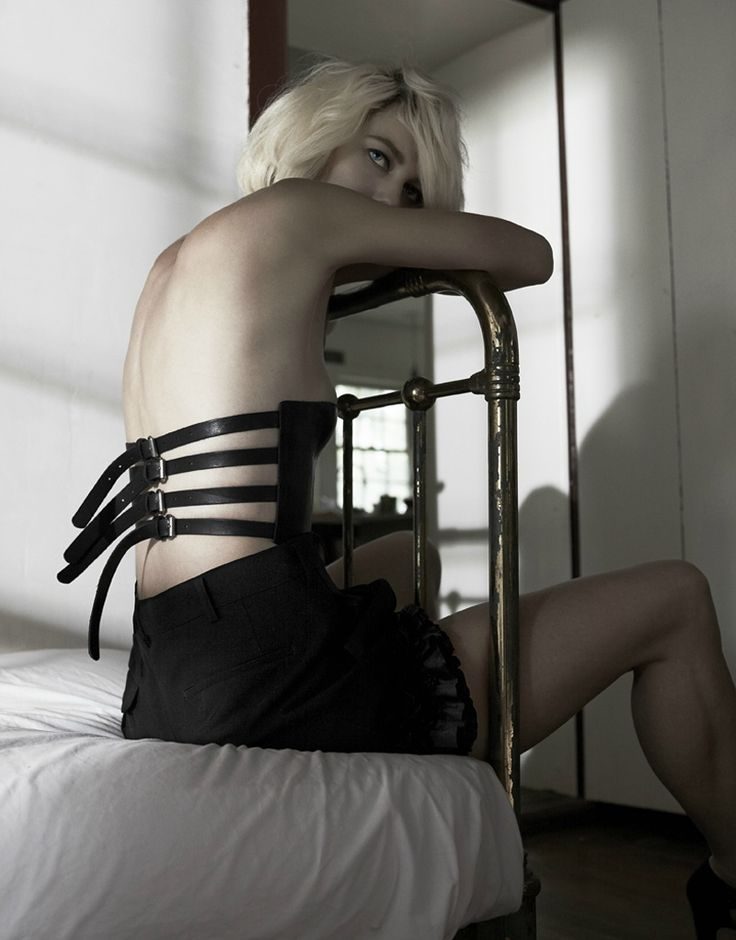 Title: Of Human Bondage Magazine: Dansk #26 Fall/Winter 2011 Model: Delfine Bafort Photographer: Kate Orne Stylist: Christine de Lassus