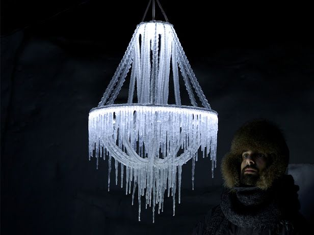 Polar Light, an Ice Chandelier by Arturo Erbsman | The Dancing Rest http://thedancingrest.com/2014/09/09/polar-light-an-ice-chandelier-by-arturo-erbsman/