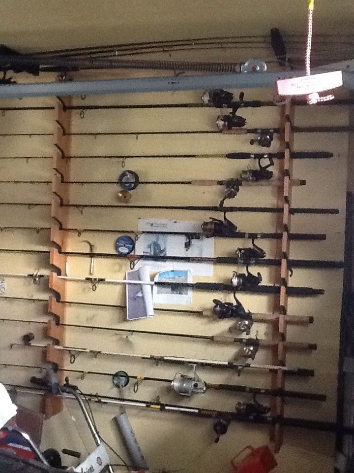 17 best ideas about fishing tackle shops on pinterest for Fishing rod storage ideas